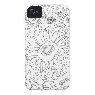 Sonnenblumen, die Seite färben iPhone 4 Etuis
