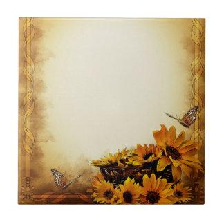 Sonnenblumen Fliese