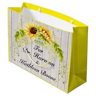 Sonnenblumen - hintere Kundenbezogenheit Große Geschenktüte
