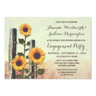 Sonnenblumen schnitzten Verlobungs-Party 12,7 X 17,8 Cm Einladungskarte