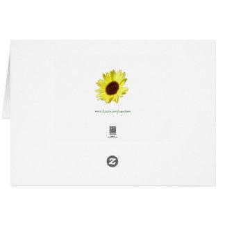 Sonnenblumen und Astern MARGIE Karte