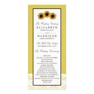 Sonnenblumen und Vintages Werbekarte
