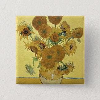 Sonnenblumen Vincent van Goghs |, 1888 Quadratischer Button 5,1 Cm