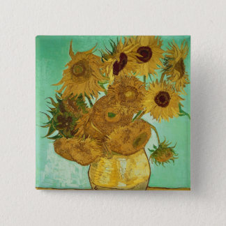 Sonnenblumen Vincent van Goghs  , 1888 Quadratischer Button 5,1 Cm