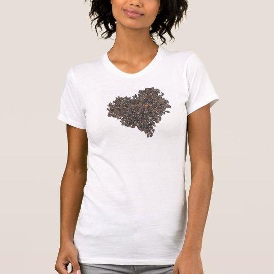 Sonnenblumensamen-Herz T-Shirt
