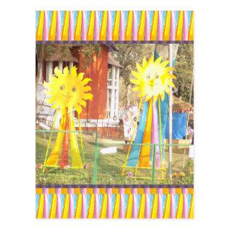 Sonnenblumesonnenscheindekorations-Festivals Postkarte