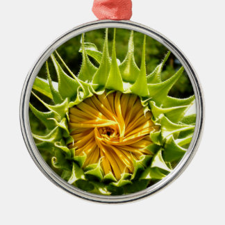 SonnenblumeWhirl Silbernes Ornament