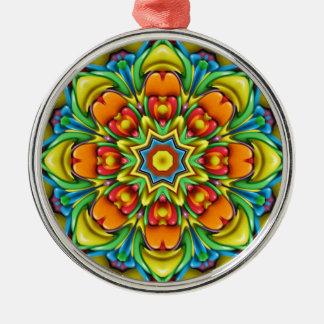 Sonnendurchbruch-bunte Vintage Silbernes Ornament