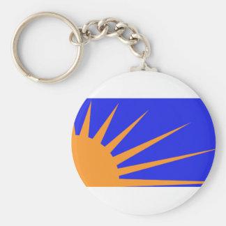 Sonnendurchbruch, politische Flagge Kolumbiens Schlüsselanhänger