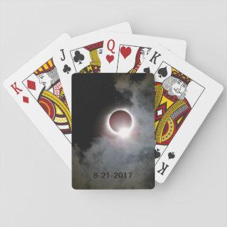 Sonnenfinsternis am 21. August 2017 Spielkarten