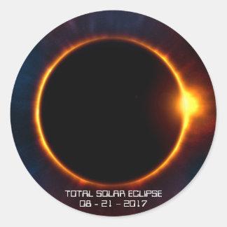 Sonnenfinsternis-Aufkleber der Dunkelheits-2017 Runder Aufkleber