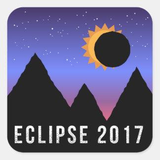 Sonnenfinsternis-themenorientierte Aufkleber 2017