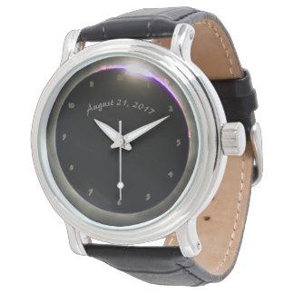 Sonnenfinsternis-Uhr Armbanduhr