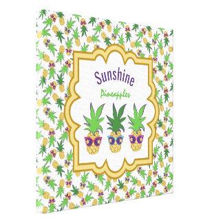 Sonnenschein-Ananas Leinwanddruck