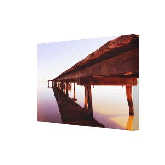 Sonnenschein auf dem Pier Leinwanddruck