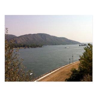 Sonnenschein auf der Donau Postkarte