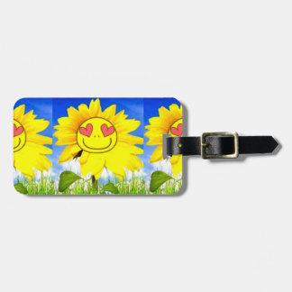 Sonnenschein-Blume, i-Liebe Sie so, lustiger Koffer Anhänger