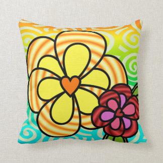 Sonnenschein-Blumen-Kissen Kissen