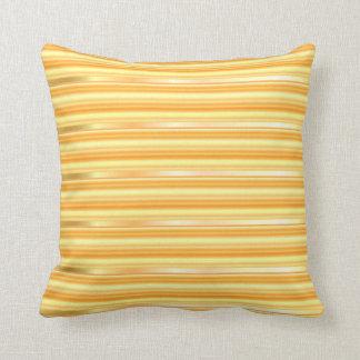 Sonnenschein-gelbe metallische Button-Streifen Kissen