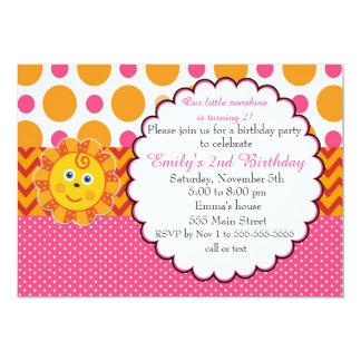 Sonnenschein-Kindergeburtstag-Einladung Karte