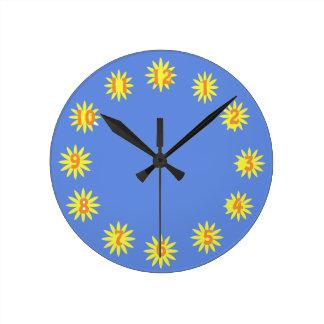 Sonnenschein-Stunden-Uhr Runde Wanduhr