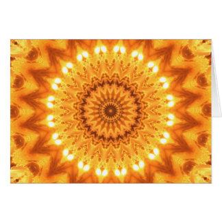 Sonnenschein-und Glück-Mandala-Karte Karte
