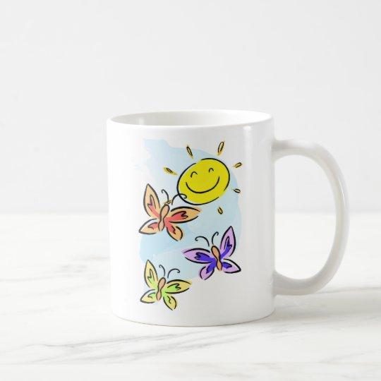 Sonnenschein und Schmetterlinge Tasse
