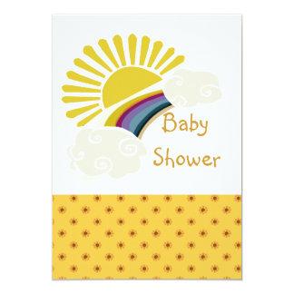 Sonnenschein-und Wolken-Babyparty Karte