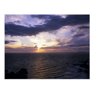Sonnenuntergang (2) postkarte