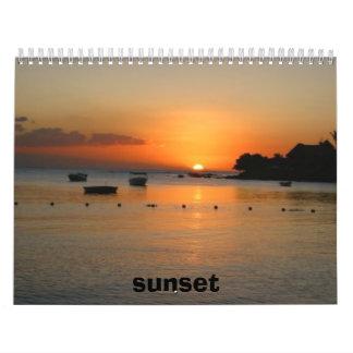 Sonnenuntergang Abreißkalender