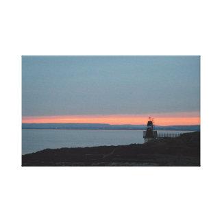 Sonnenuntergang am Batterie-Punkt Leinwanddruck