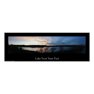 Sonnenuntergang am See-Scott-Staats-Park-Panorama Poster