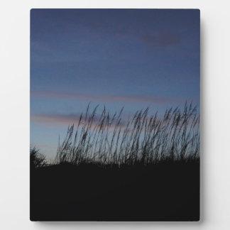 Sonnenuntergang am Strand Fotoplatte