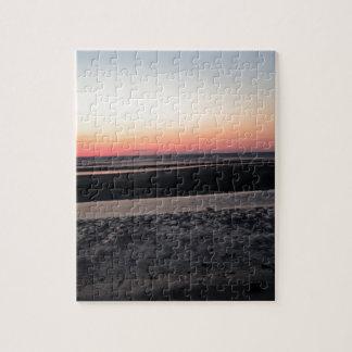 Sonnenuntergang am Strand in New-Jersey