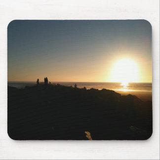 Sonnenuntergang an den Ozean-Ufern Mousepad