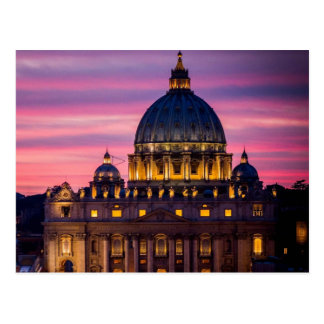 Sonnenuntergang an der Vatikanstadt-Postkarte Postkarte
