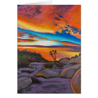Sonnenuntergang an Joshua-Baum Karte