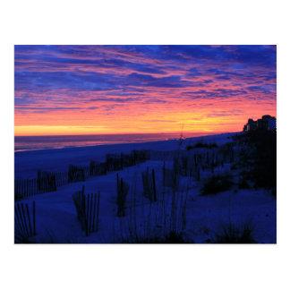 Sonnenuntergang auf Alabamas Stränden Postkarte