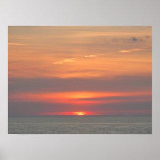 Sonnenuntergang auf dem Eriesee 287 Poster