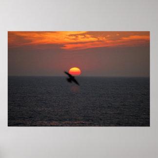 Sonnenuntergang auf dem See 0162 Poster