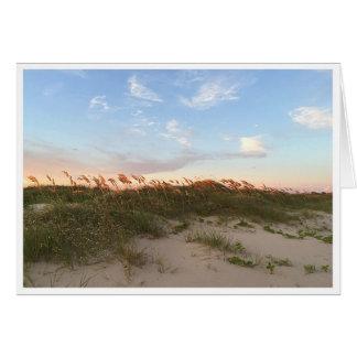 Sonnenuntergang auf dem Strand Grußkarte