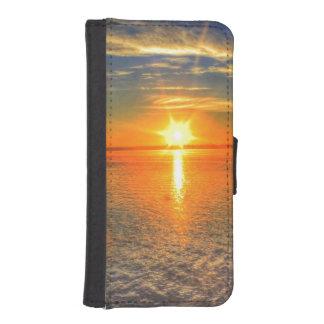 Sonnenuntergang auf dem Strand iPhone SE/5/5s Geldbeutel