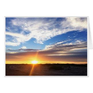 Sonnenuntergang auf Matagorda Strand Grußkarte
