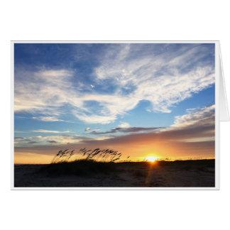 Sonnenuntergang auf Matagorda Strand, Karte des