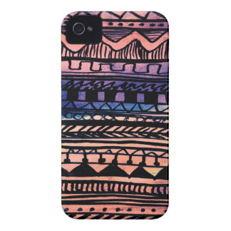 Sonnenuntergang-Azteke-Muster Case-Mate iPhone 4 Hülle