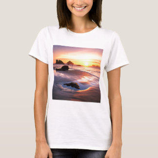 Sonnenuntergang Bandon Oregon T-Shirt