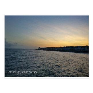 Sonnenuntergang bei Hastings Postkarte