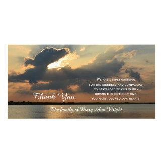 Sonnenuntergang-Beileid danken Ihnen Bilderkarte