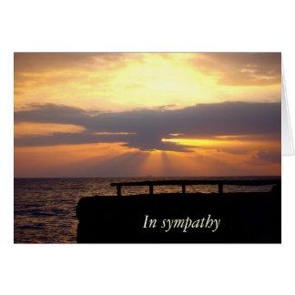 Sonnenuntergang-Beileid Mitteilungskarte