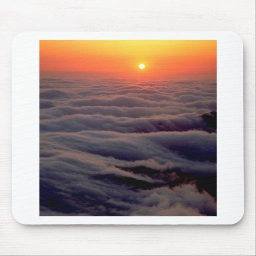 Sonnenuntergang-bewölkter Ozean Mousepads
